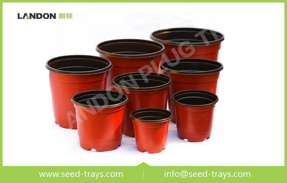 Colored Plastic Flower Pots